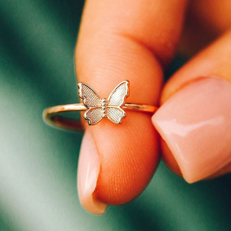 Butterfly In Flight Ring 4