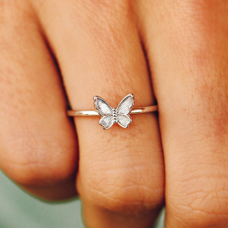 Butterfly In Flight Ring 5