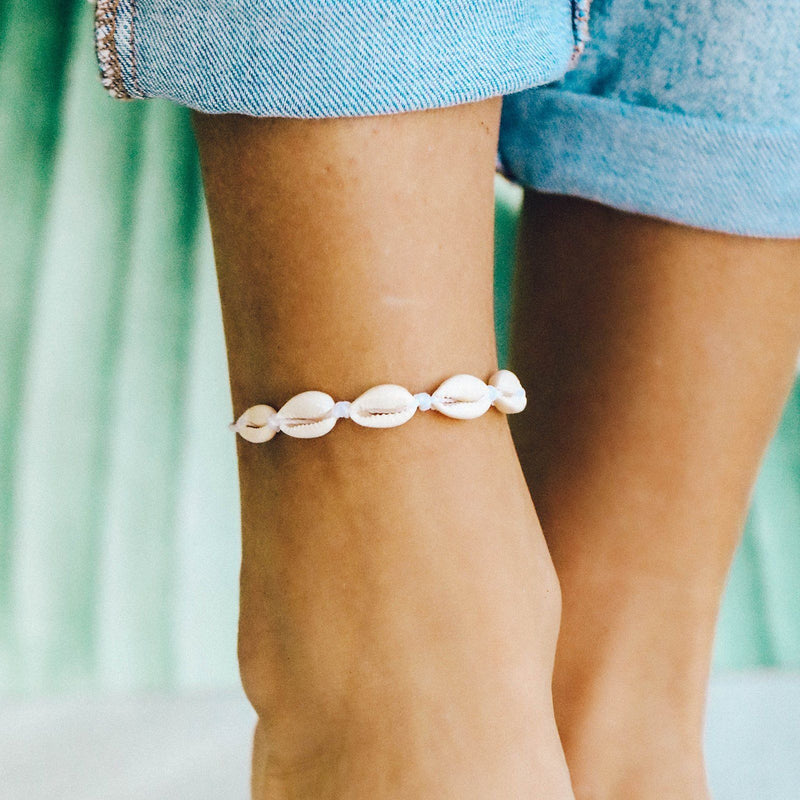 Knotted Cowries Anklet 4