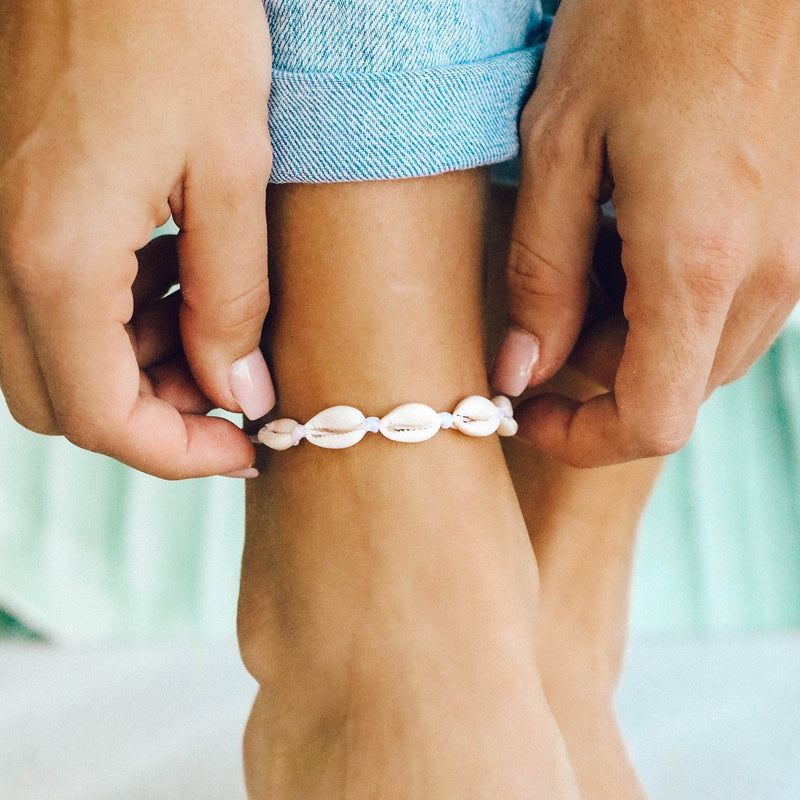 Knotted Cowries Anklet 2