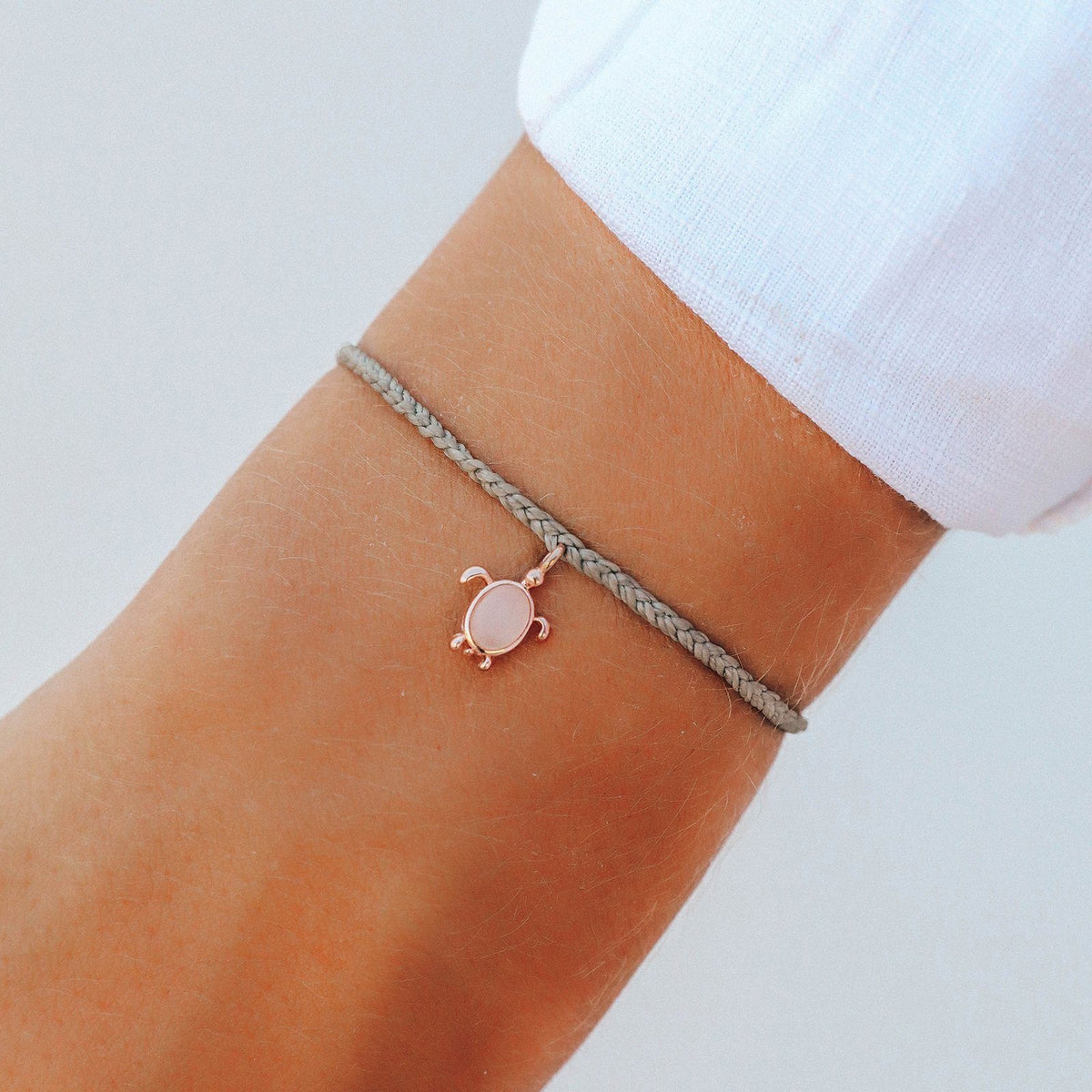 Rose Gold Save the Sea Turtles Charm 4