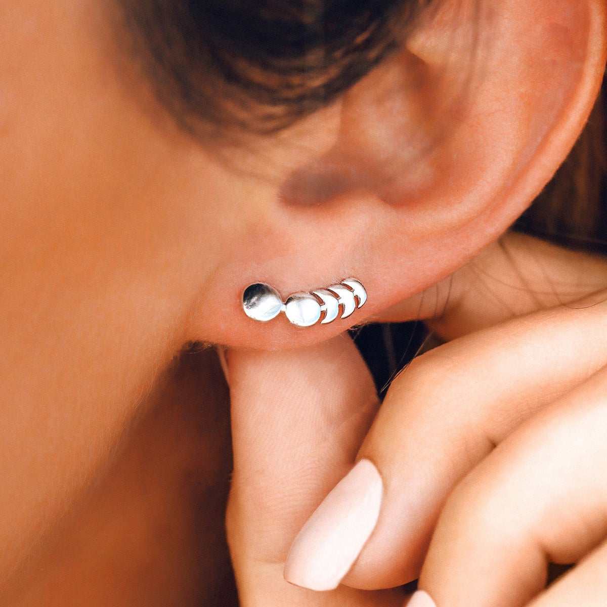 Moon Phases Ear Climber 3