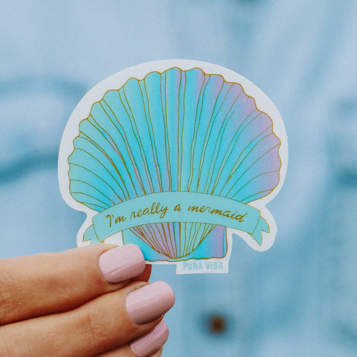 Mermaid Shell Sticker 2