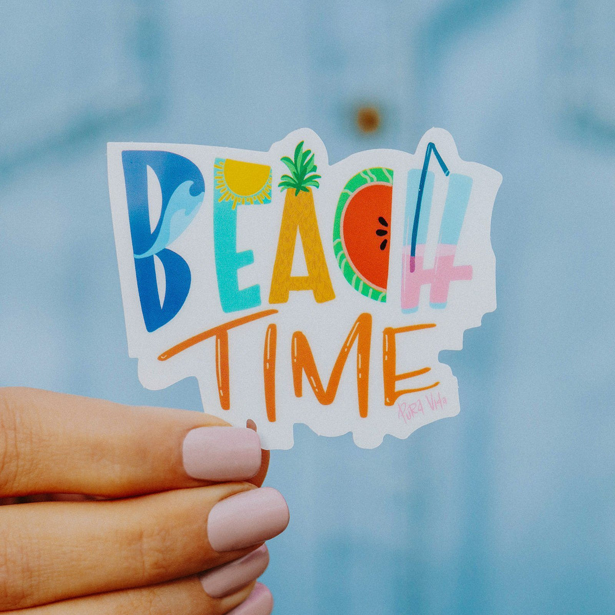 Beach Time Sticker