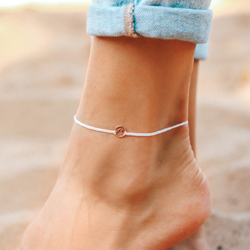 Mini Wave Charm Anklet 6