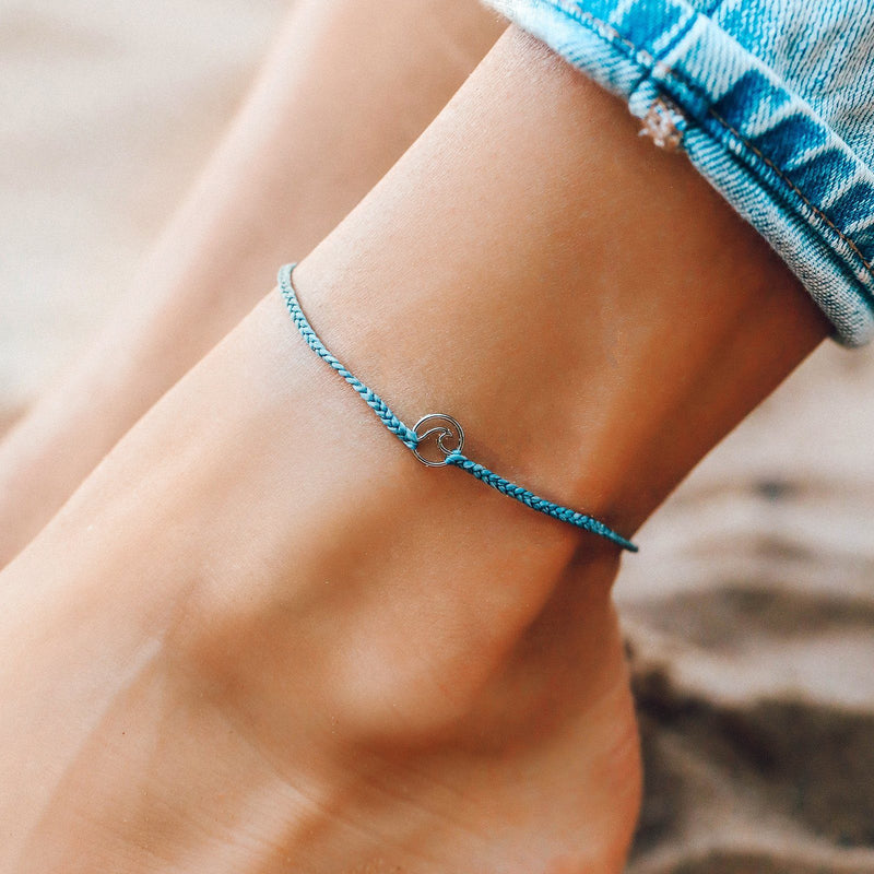 Mini Wave Charm Anklet 3