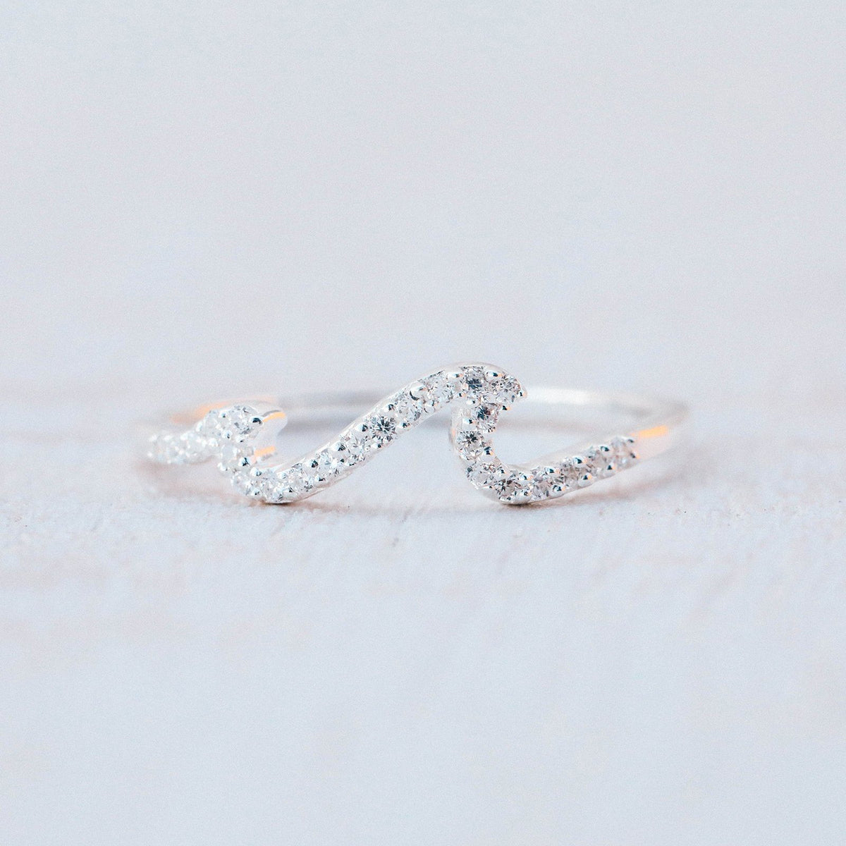 Pave Wave Ring 9