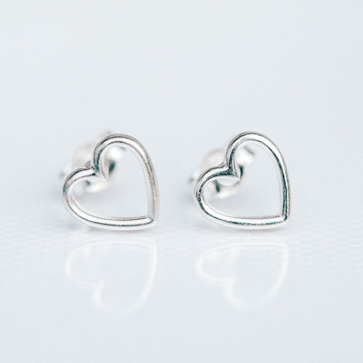 Open Heart Stud Earrings 5