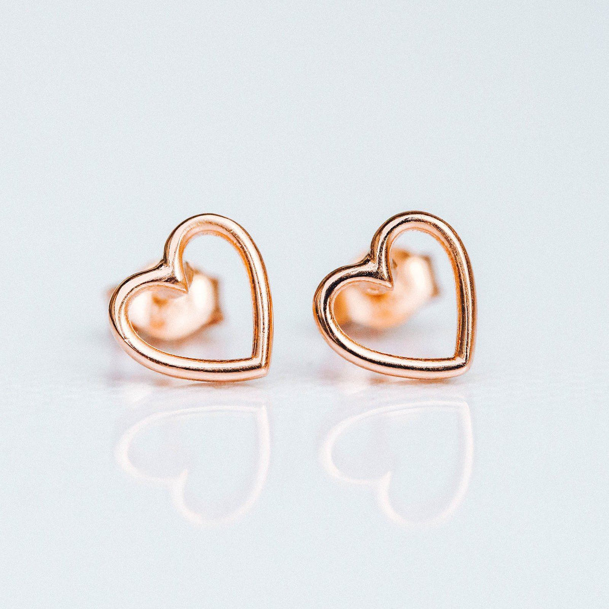 Open Heart Stud Earrings 6