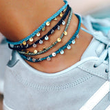 Mini Braided Coin Anklet Image 8