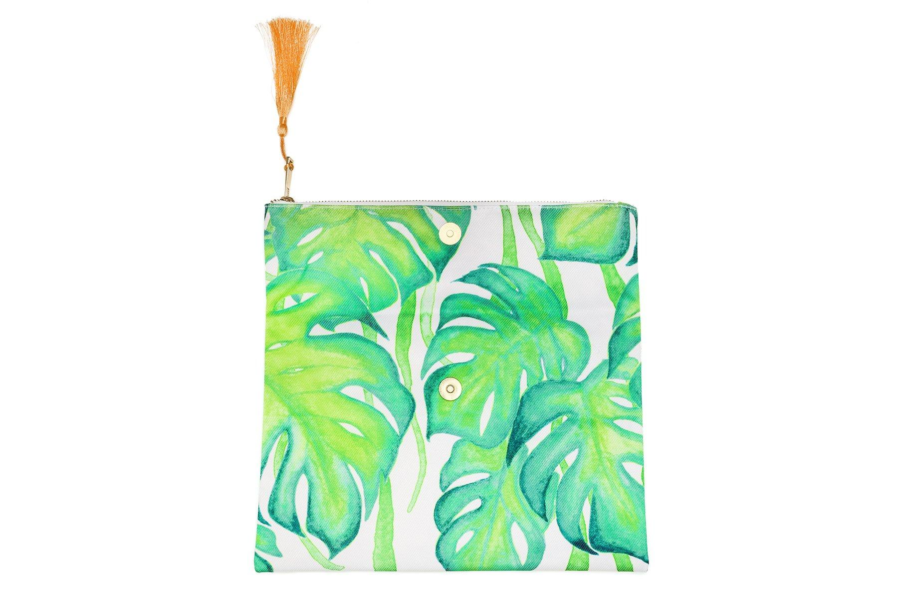 VIDA Statement Clutch - Palm Trees and Beach Fun by VIDA wtIaHQr