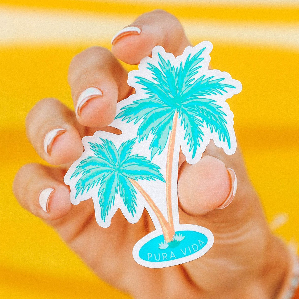 2 Palms Sticker