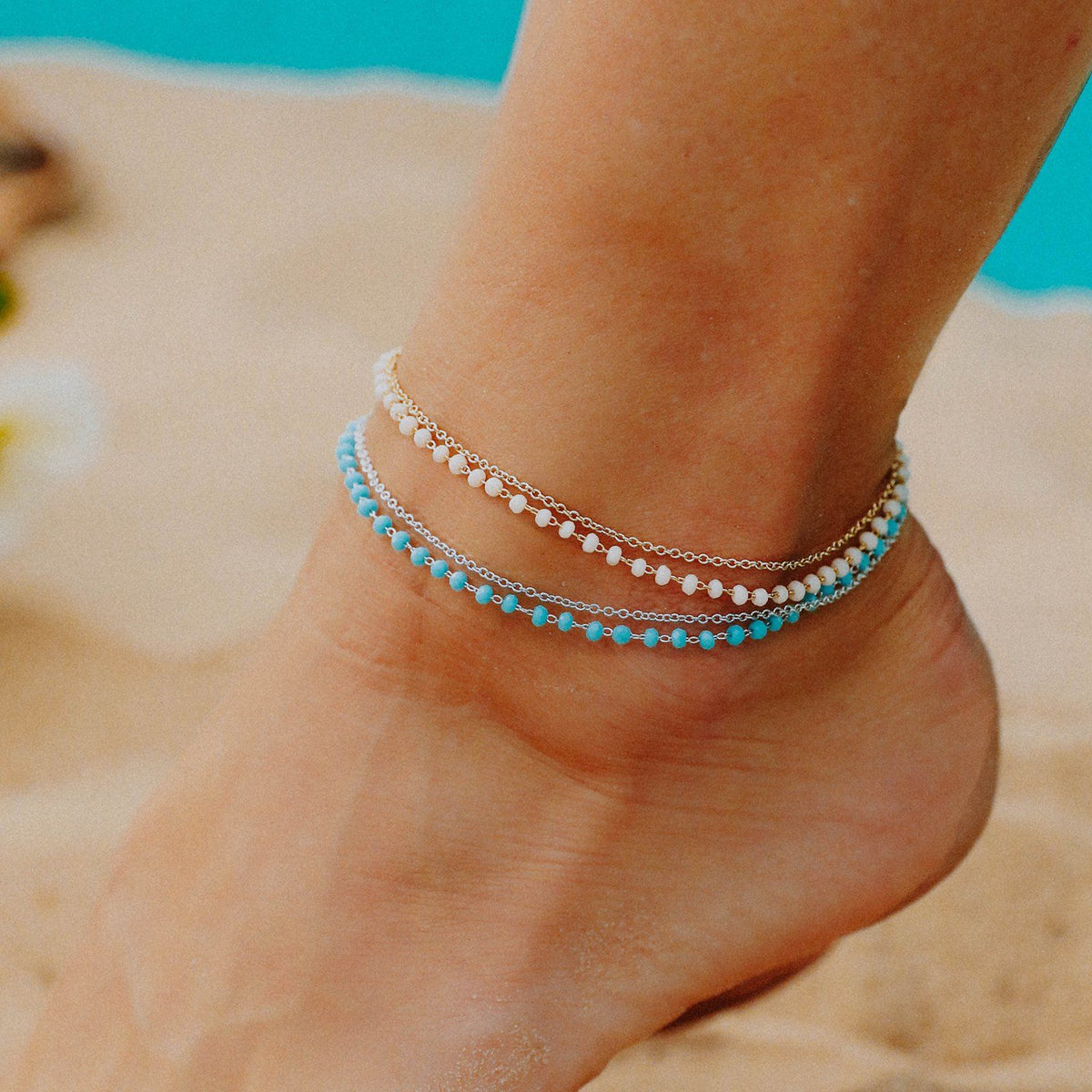 Beaded Chain Anklet 5