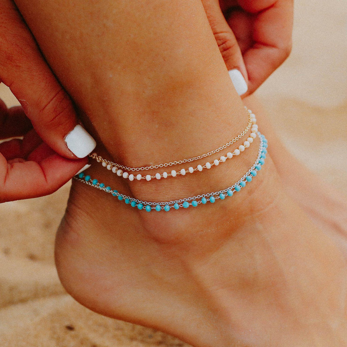Beaded Chain Anklet 4