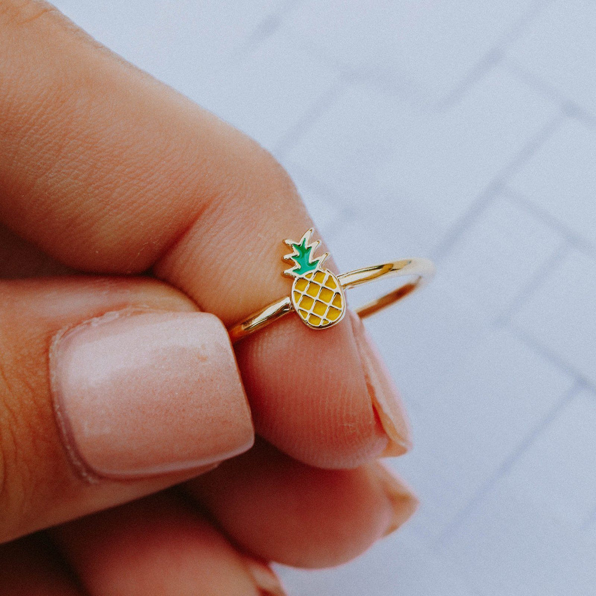 Enamel Pineapple Ring Photo 6