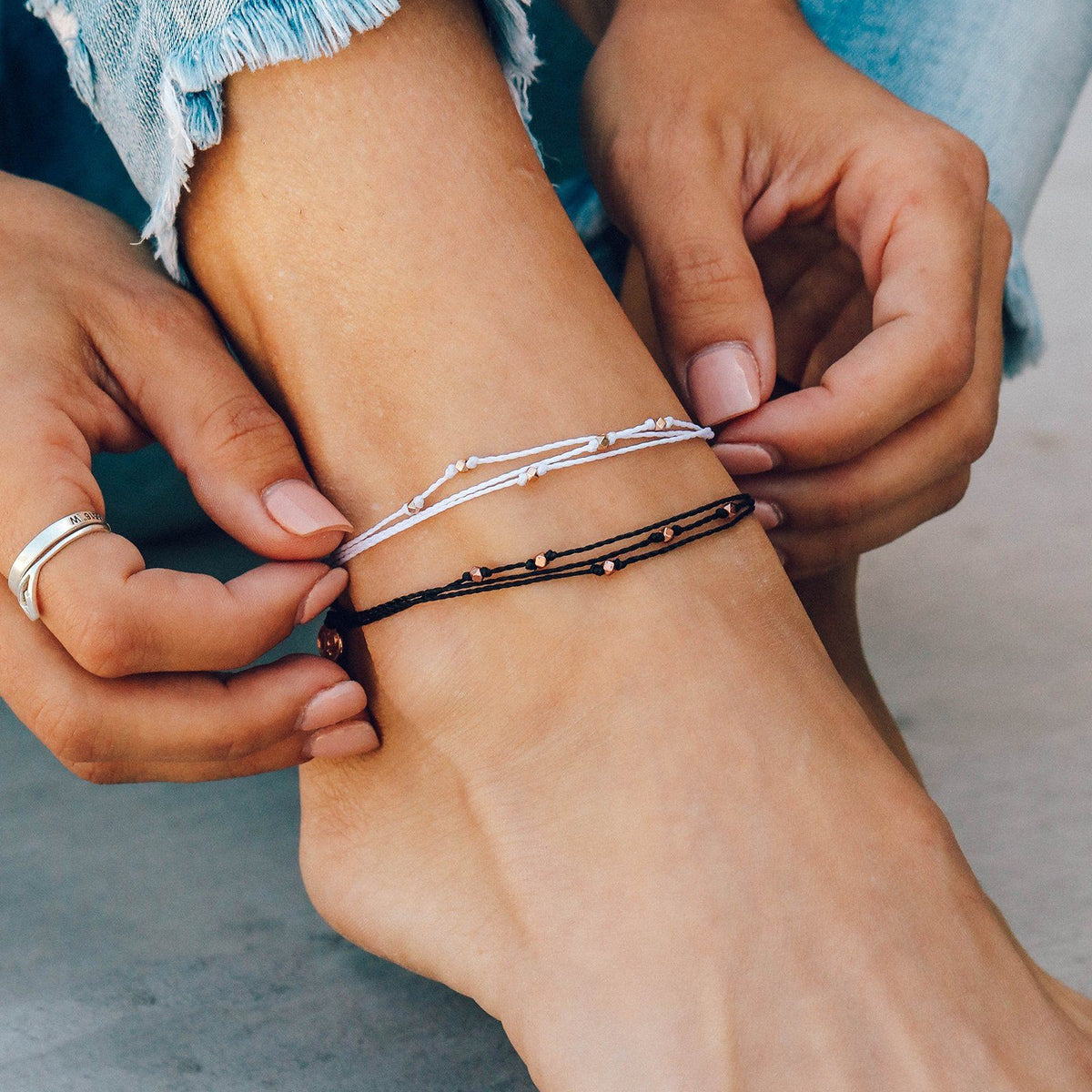 Rose Gold Malibu Anklet 4