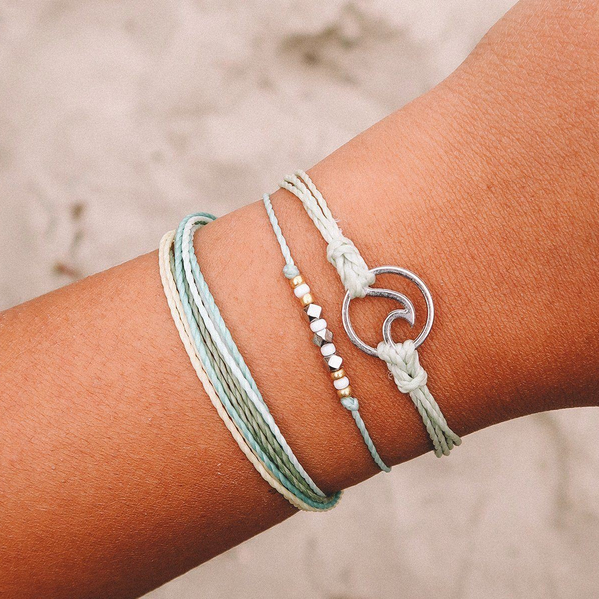 Silver Wave Charm 8