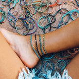 Mini Braided Coin Anklet Image 7