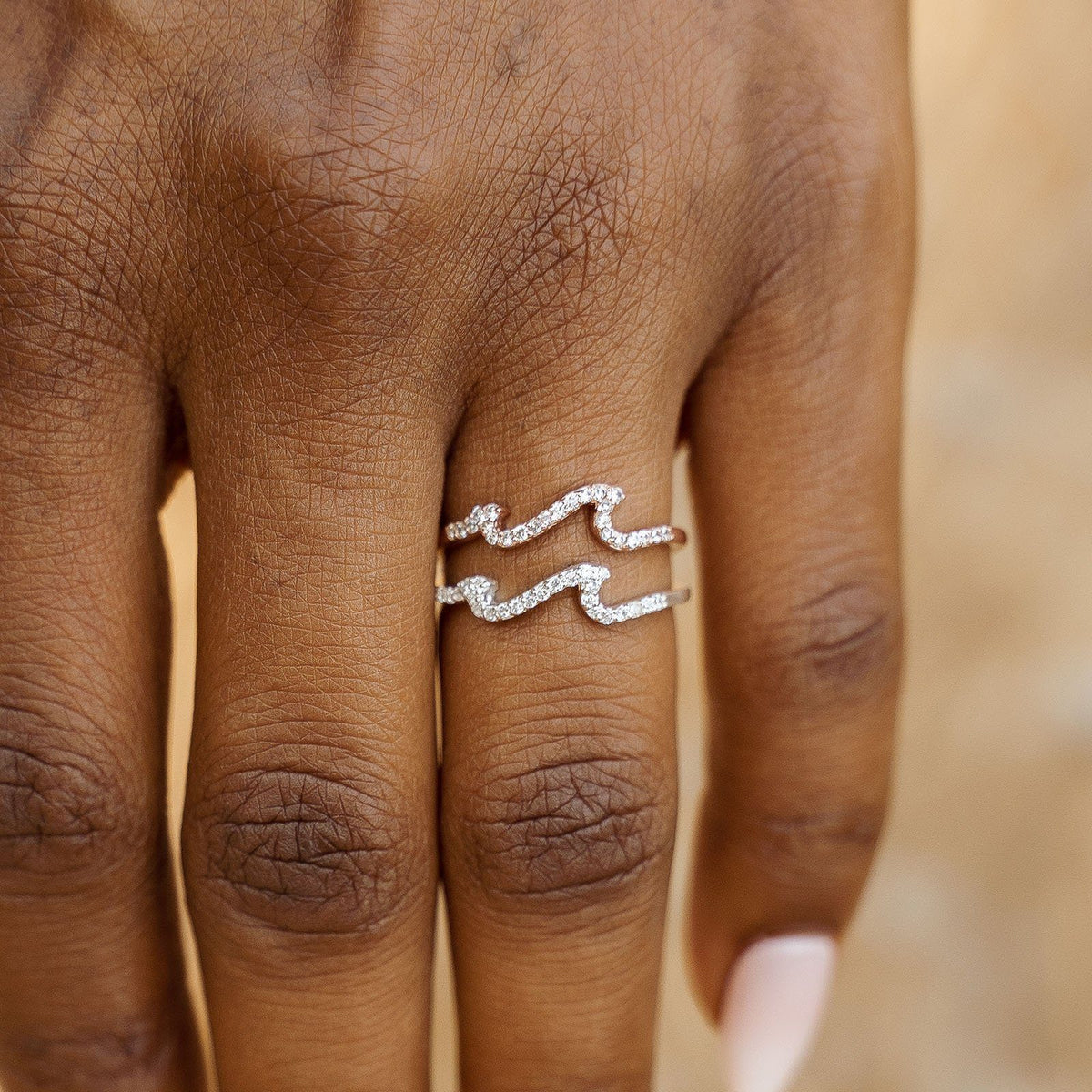 Pave Wave Ring 4