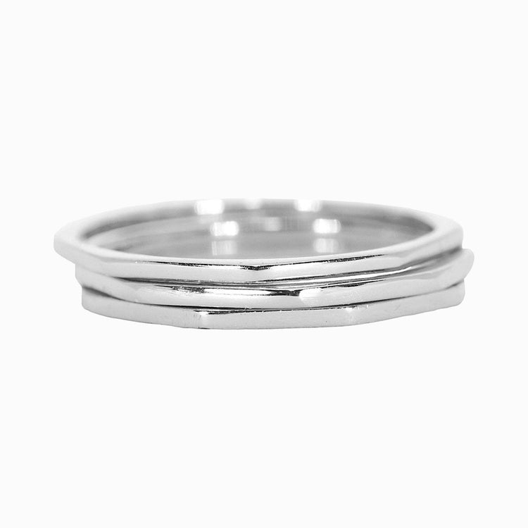 Myhouse Stainless Steel Wave Ring Simple Titanium Steel Ring Wedding Engagement Silver Color, 6