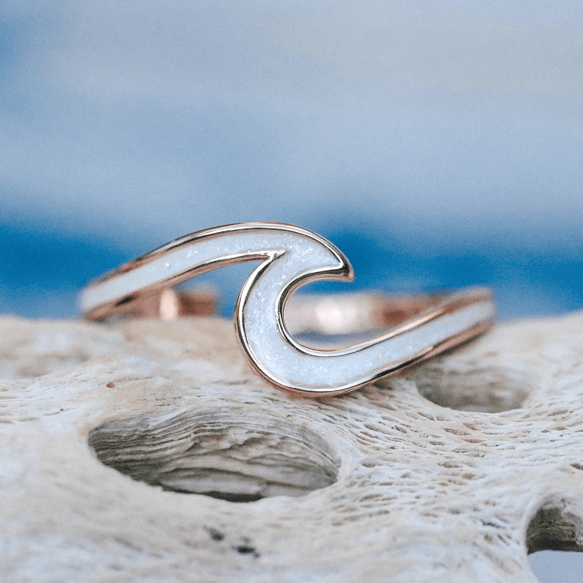 Enamel Wave Ring 9