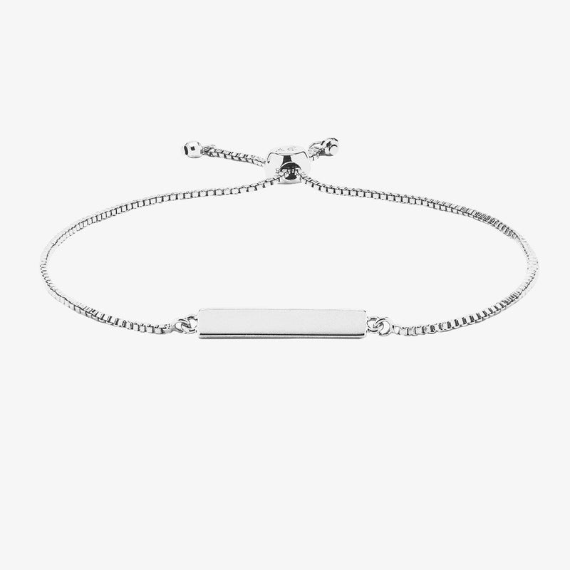 Engravable Bar Slider Bracelet 2