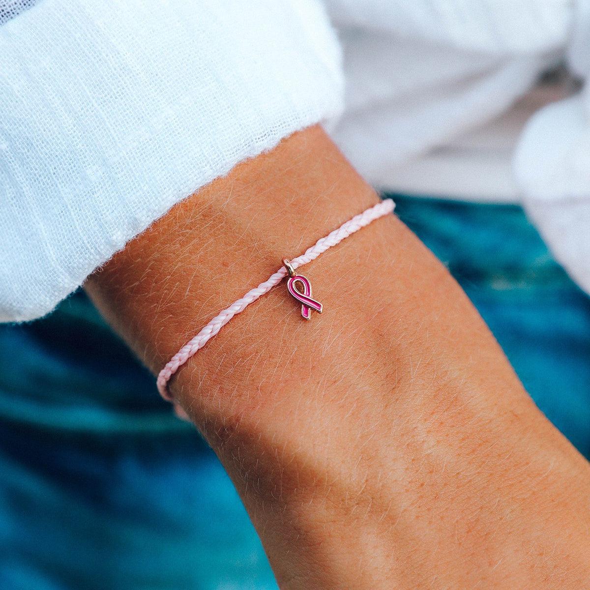 Breast Cancer Awareness Rose Gold Charm