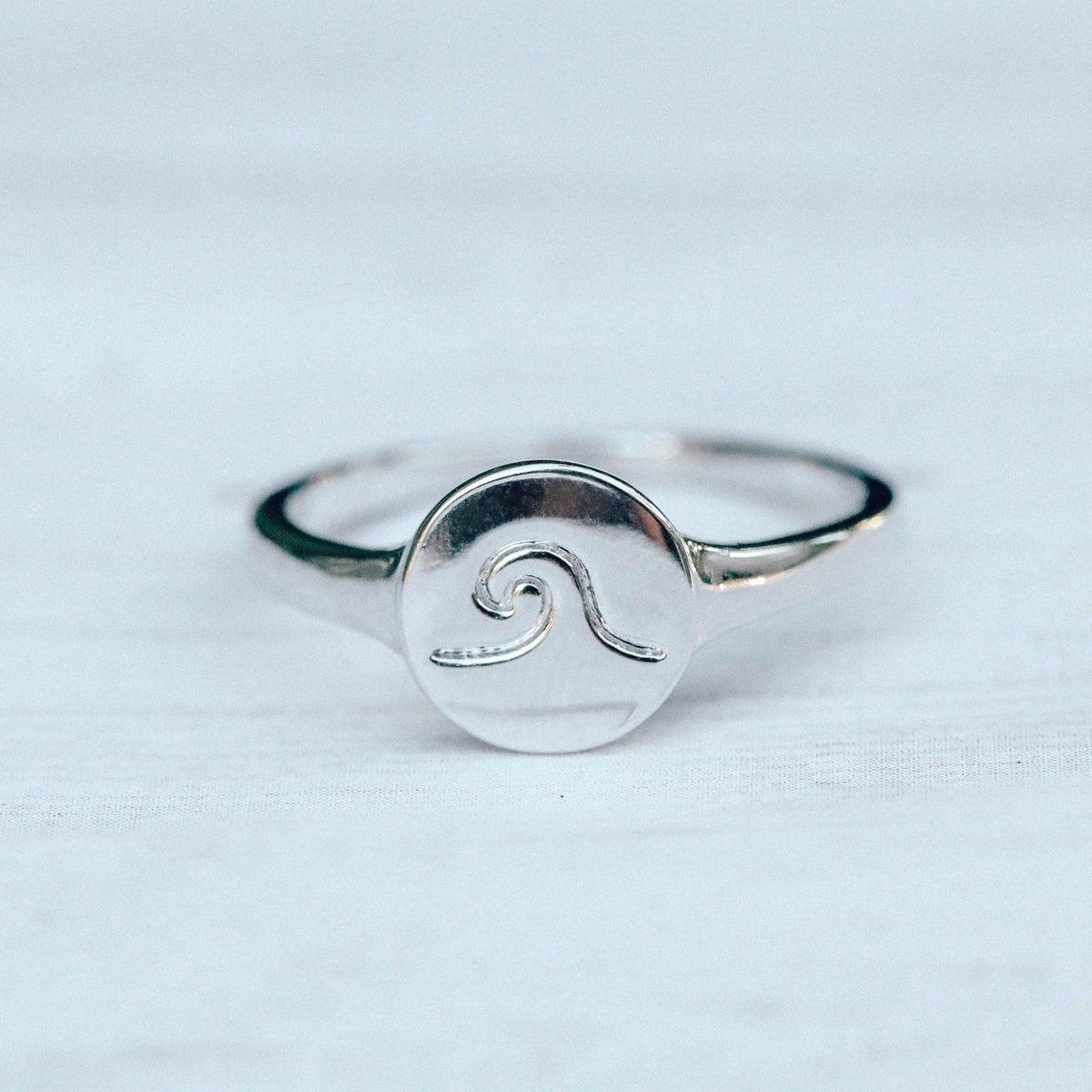 Wave Coin Ring 5
