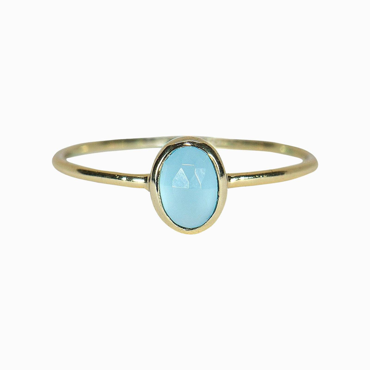 Oval Chalcedony Ring