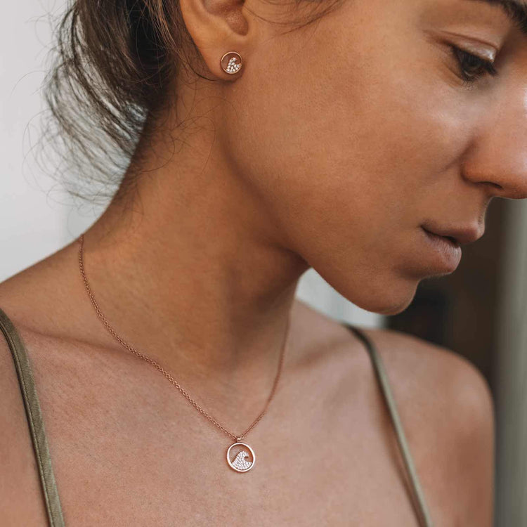 Pave Wave Necklace & Earring Set