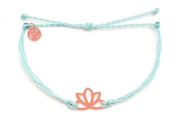 Rose Gold Lotus Seafoam