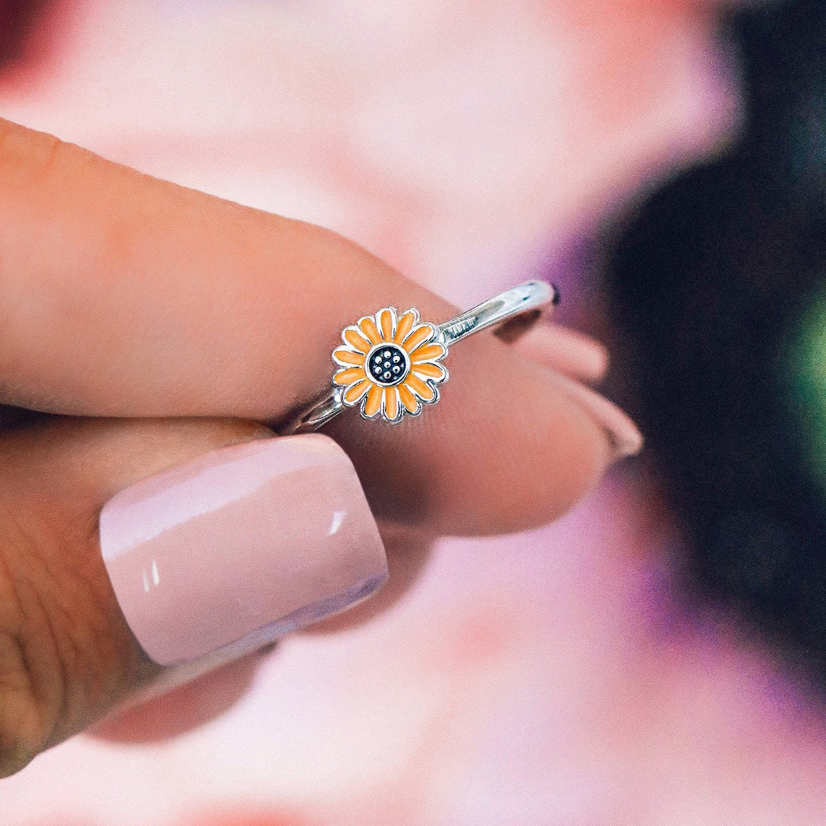 Enamel Sunflower Ring 4