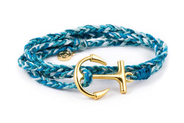 Anchors - Gold Anchor Aqua