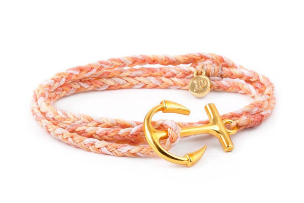 Anchors - Gold Anchor Peach