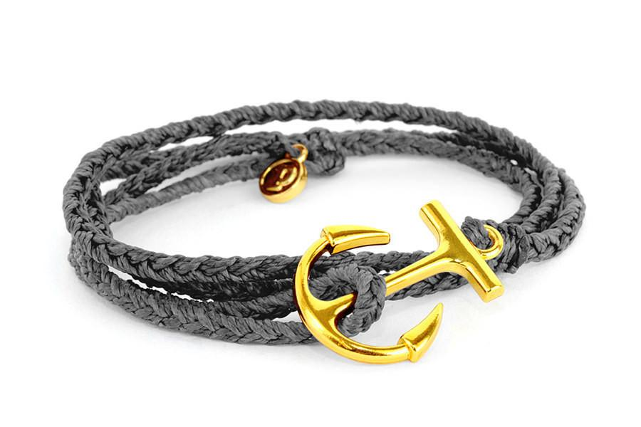 Anchors - Gold Anchor Solid Grey