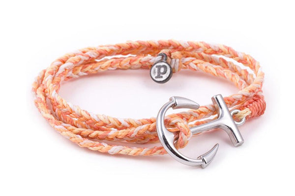 Anchors - Silver Anchor Peach
