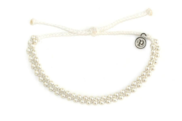 Silver Track Bead White