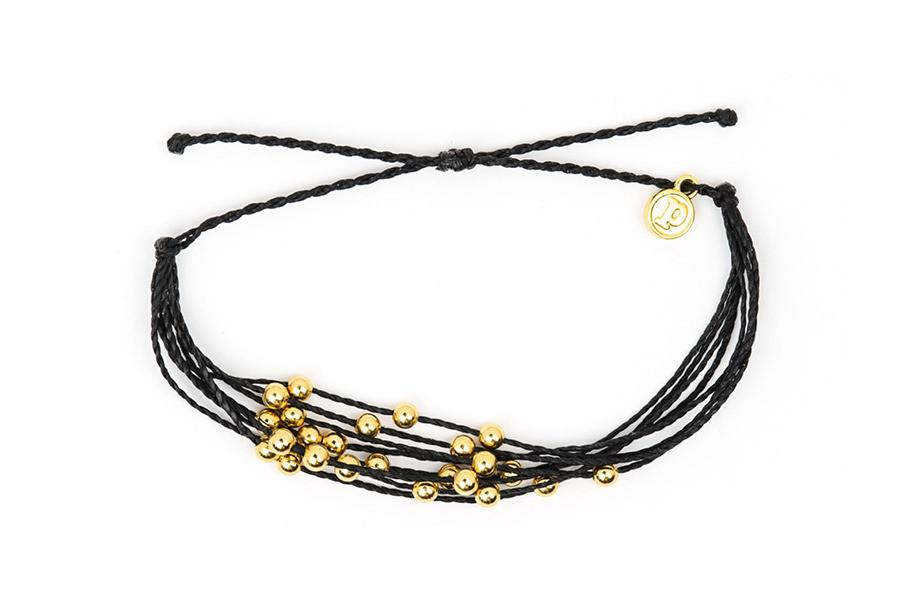 Gold Beaded - Gold Beaded Black