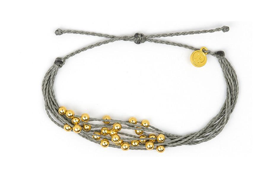 Gold Beaded - Gold Beaded Grey