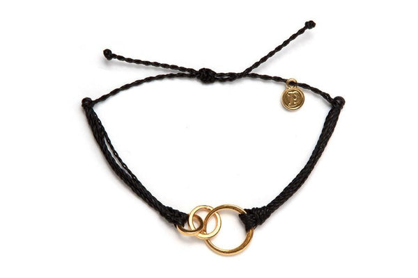 Gold Charms - Gold 3 Circle Black
