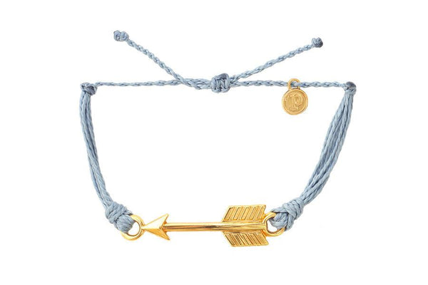 Gold Charms - Gold Arrow Columbia Blue