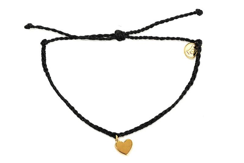 Gold Charms - Gold Bitty Heart Black