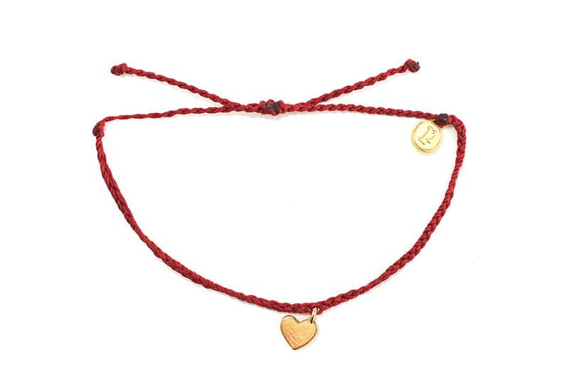 Gold Charms - Gold Bitty Heart Candy Apple Red
