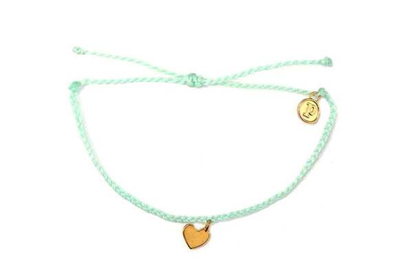Gold Charms - Gold Bitty Heart Seafoam