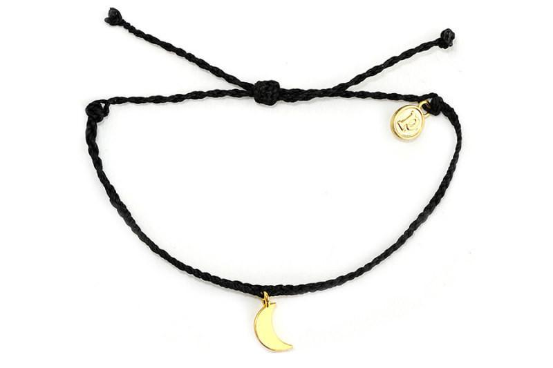 Gold Charms - Gold Bitty Moon Black