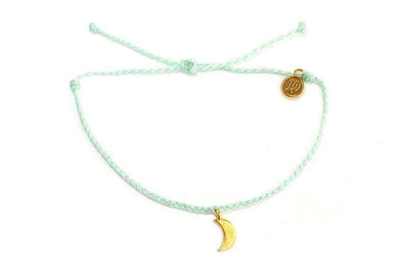 Gold Charms - Gold Bitty Moon Seafoam