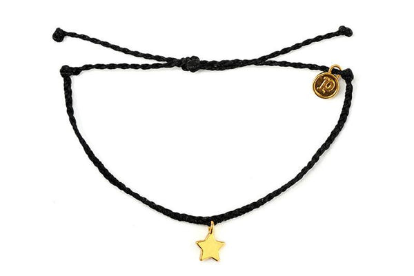 Gold Charms - Gold Bitty Star Black