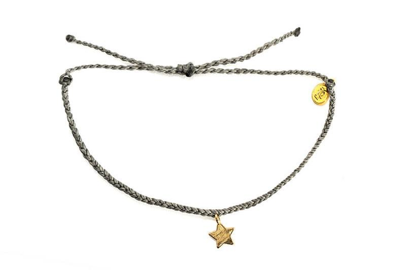 Gold Charms - Gold Bitty Star Dark Grey