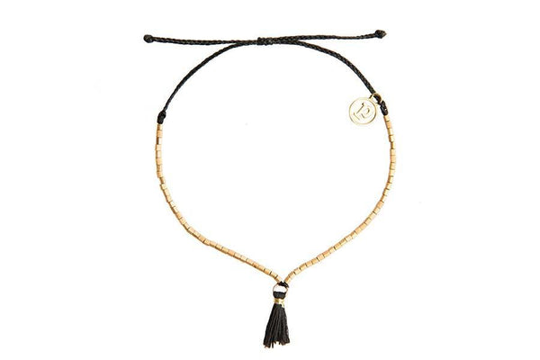 Gold Fringe with Black Tassel