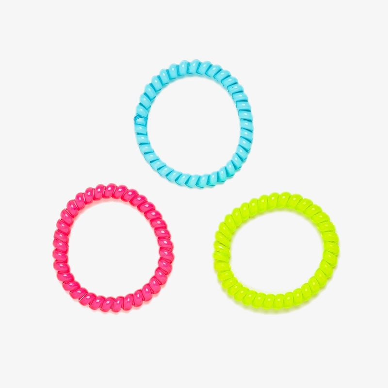 Neon Coil Scrunchies (Set of 3) 1